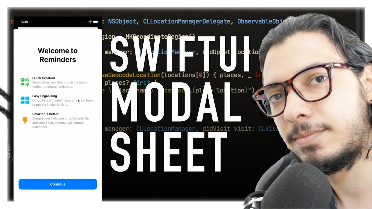 SWIFTUI: MODAL SHEET VIEW - TUTORIAL iOS
