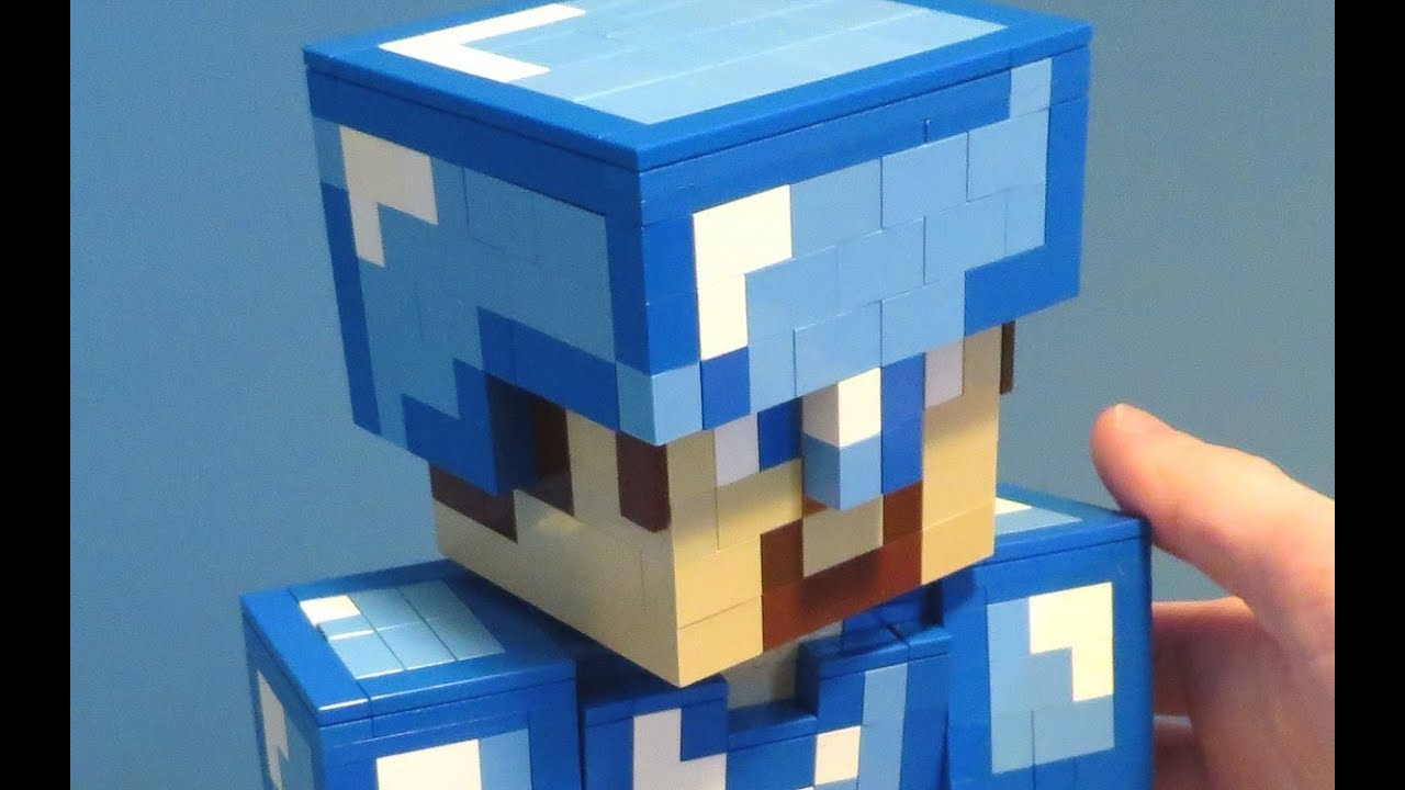 Papercraft Minecraft Diamond Steve Sword And