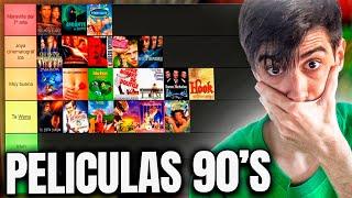 TIER LIST PELÍCULAS DE LOS 90s