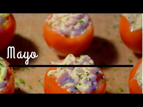 Recette entrée avec tomates : thon, maïs, crevettes ♡