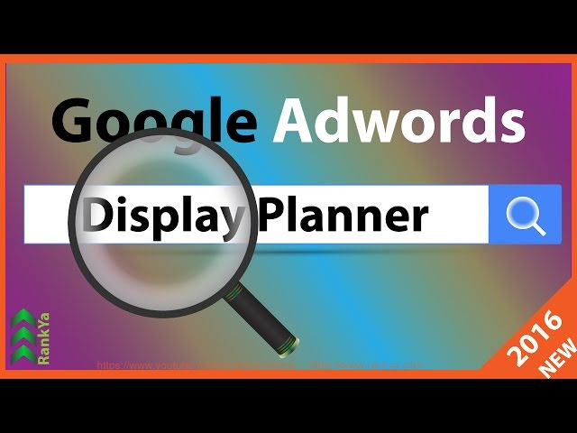 Google Adwords Tutorials - How to Use Display Planner Tool