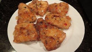 Flounder (Fluke) Catch and Cook - Pineapple Glazed Easy Recipe