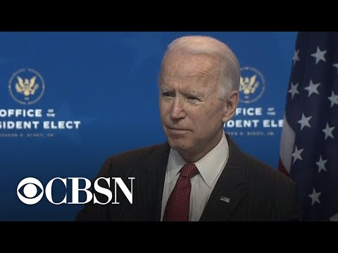"""Biden says Trump's refusal to concede is """"incredibly damaging"""" and """"totally irresponsible"""""""
