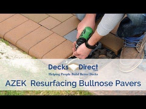 AZEK Resurfacing Bullnose Pavers