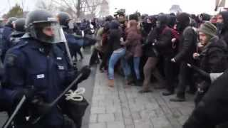 manifestation du 26 mars à Québec
