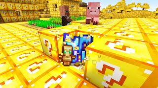 Minecraft UHC but the entire world is Lucky Blocks..