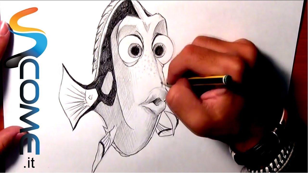 Disegna Dory Del Film Alla Ricerca Di Nemo Youtube