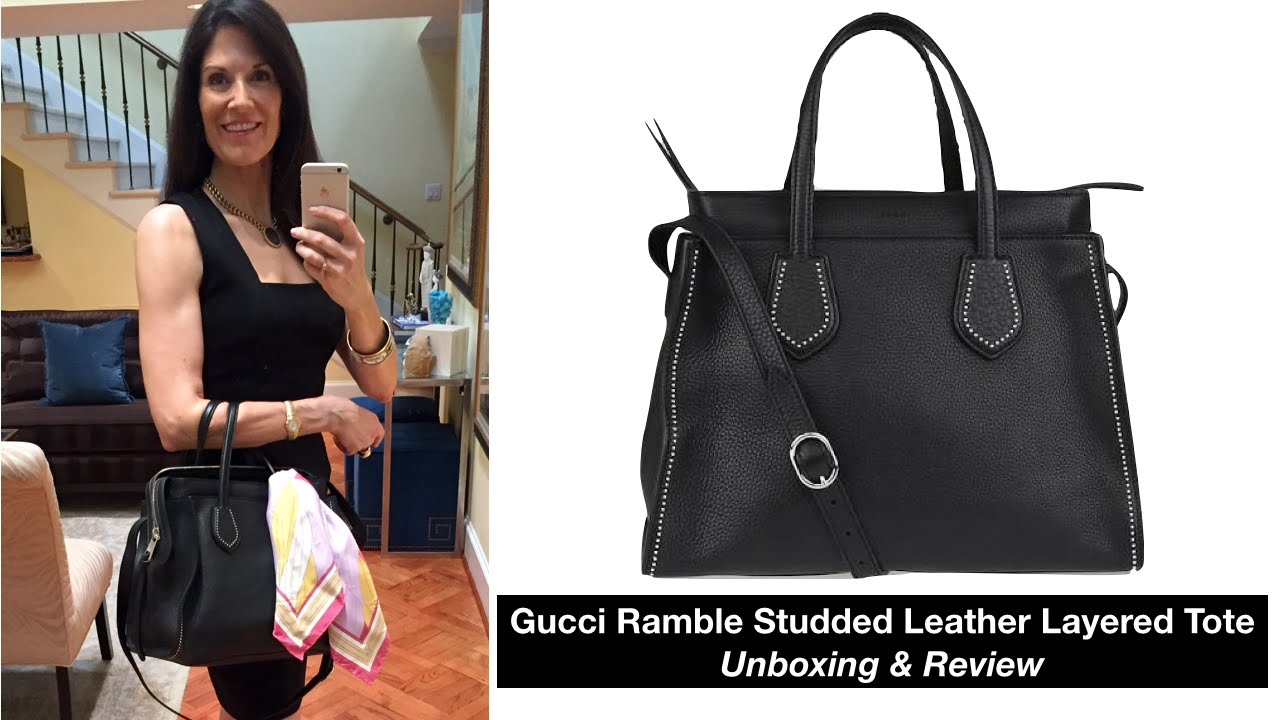 7ccffecb2357 Gucci Ramble Leather Tote Review & Unboxing - YouTube