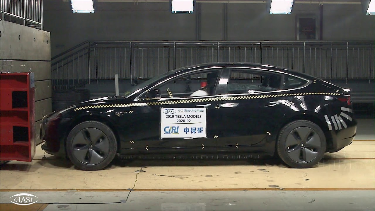 Tesla Model 3 Low Speed Crash Test by C-IASI - YouTube