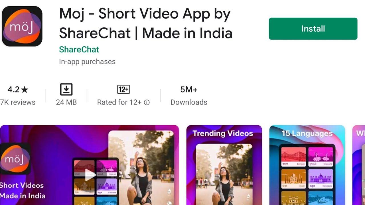 Moj Short Video App- TikTok Alternative Indian App
