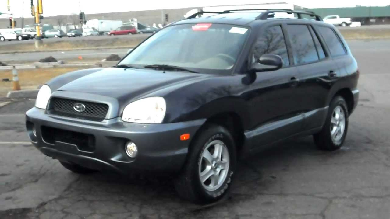 2004 hyundai santa fe gls 4dr suv 4x4 2 7 v6 p roof warranty youtube. Black Bedroom Furniture Sets. Home Design Ideas