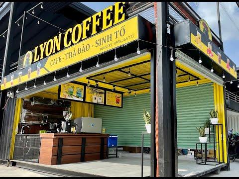 Mô hình quán cà phê container | Lyon Coffee