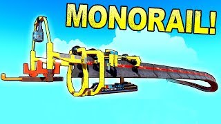 This Monorail Actually Builds Its Own Rail! [BEST CREATIONS] - Trailmakers Gameplay