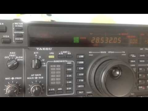 VP8LIZ 10m Port Stanley Falkland Islands received on my Yaesu FT-1000MP