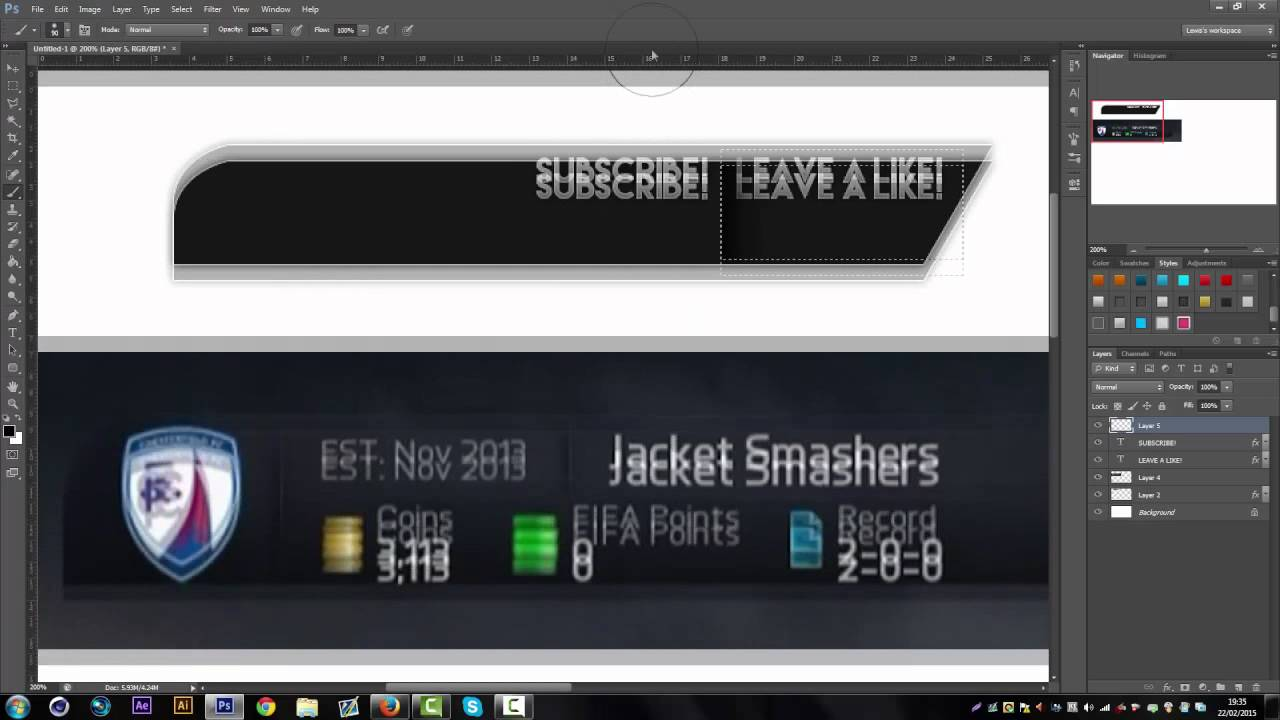 free fifa 15 overlay template psd direct download link new 2015