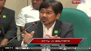 SONA: Rep. Tiangco at Atty. Bautista, pinaalis sa pagdinig ng Senate Blue Ribbon Sub-Committee