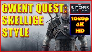 Witcher 3 - Gwent Skellige Style Mysterious Elf - Gwent Cards - Quest - 4K Ultra HD