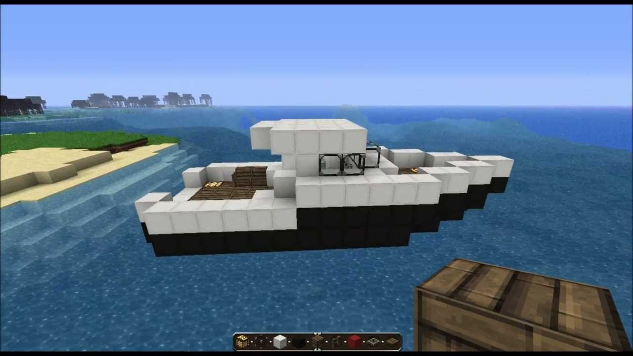 Minecraft Tutorial FishingBoat YouTube