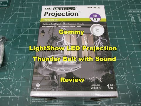 Gemmy Lightshow LED Projection Thunder Bolt with Sound Review 73203