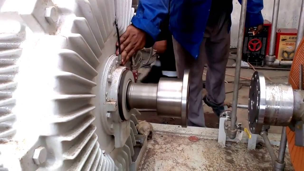 Testing the boiler feedwater pump motor coupling off for Motor and pump coupling