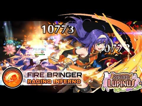 Avabel Lupinus Firebringer EX Skill - Raging Inferno