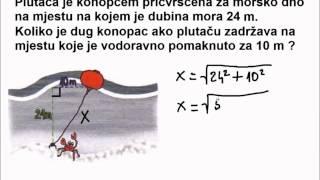 Primjena Pitagorinog poučka u životnim situacijama - 2