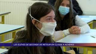 Yvelines | Les élèves de seconde de retour en classe à Achères