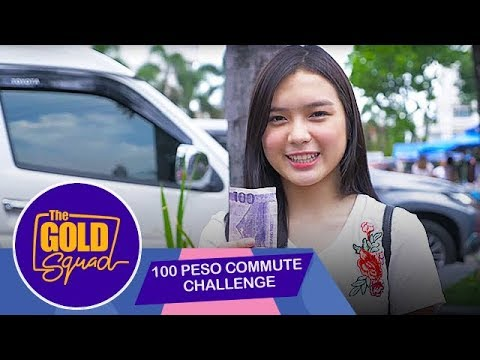 100 PESO COMMUTE CHALLENGE   Gold Squad Francine (With Eng Subs)