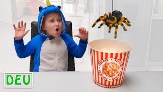 Annie und lustige geschichte mit Spinne