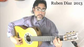 Tips about the Place for the Right Forearm / Ruben Diaz e-zine Magazine & Paco de Lucia's Technique
