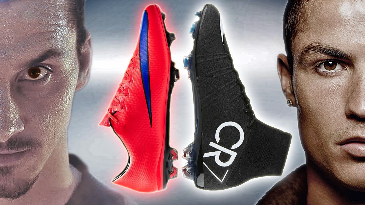 classic fit 316b2 eb3e8 Ibrahimovic VS Ronaldo - Boot Battle: Nike Mercurial Vapor X vs Superfly IV  Test & Review
