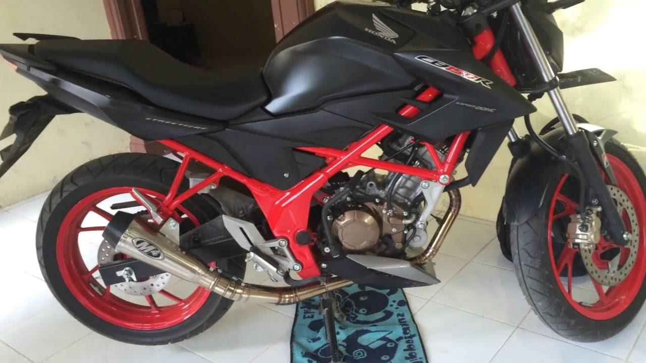 MODIFIKASI MOTOR HONDA CB 150 SPECIAL EDITION DENGAN KNALPOT RACING
