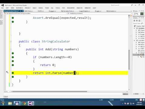 Refactoring and Design Skills for Test Driven Development SA2013