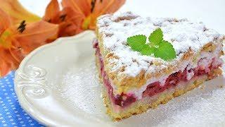 Kruche ciasto z wiśniami i pianką - Jak zrobić - Smakowite Dania