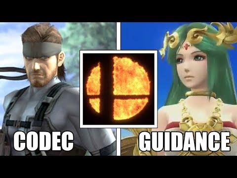 Super Smash Bros: SNAKE'S CODEC Vs PALUTENA'S GUIDANCE (Brawl VS Wii U Taunt Easter Eggs COMPARISON)