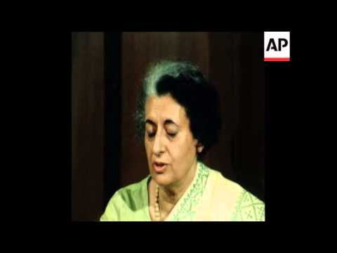 SYND 24 9 76 MRS INDIRA GANDHI INTERVIEW ON DEMOCRACY IN INDIA