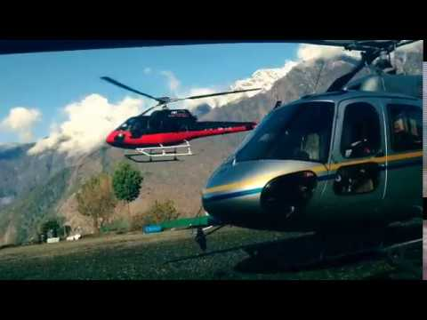 Fly out from Kathmandu to Lukla by Helicopter | Fly to Tenzing Hillary airport
