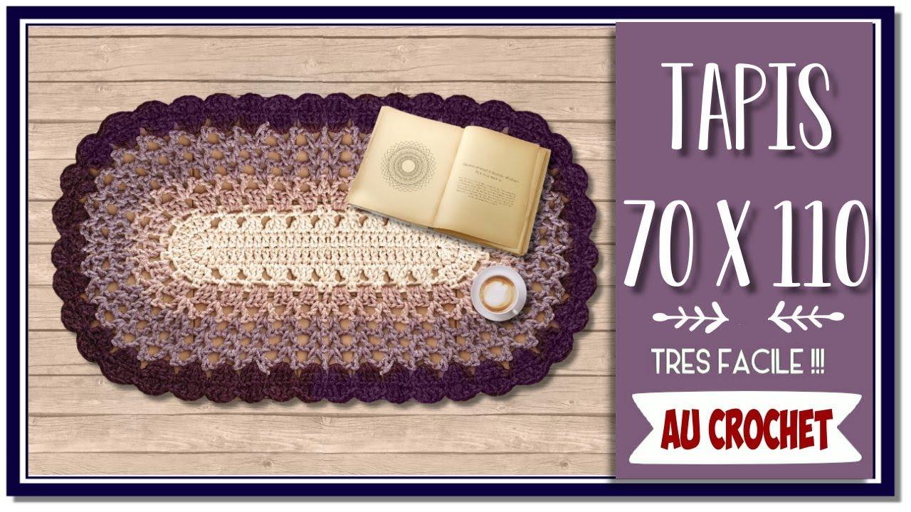 comment faire un tapis ou un grand napperon au crochet tuto debutante