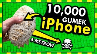 10,000 GUMEK RECEPTUREK NA IPHONE vs UPADEK Z WYSOKOŚĆI... [*]