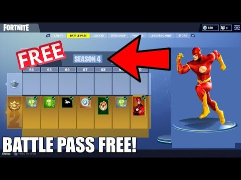 HOW TO GET THE SEASON 4 BATTLE PASS + 100 TIERS FREE ON FORTNITE!!
