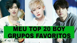 MEU TOP 20 BOY GRUPOS FAVORITOS NÓ K-POP