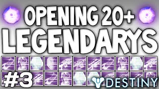 Destiny: Decrypting 20+ LEGENDARY ENGRAMS Live!