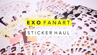 EXO Fanart Sticker Haul