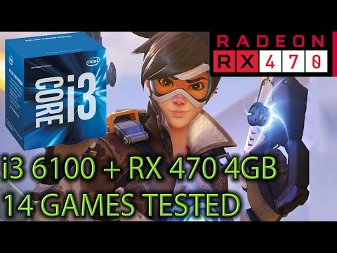 i3 6100 paired with an RX 470 4GB - Is it Playable? Bottleneck? - 14 Games Tested