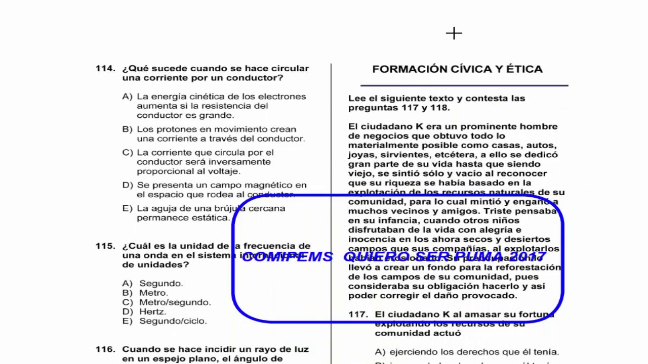 Conociendo el examen comipems 2017 materias estructura for Examen para plazas docentes 2017