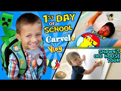 Thumbnail: CHASE'S 1st Day of SCHOOL! + Shawn's Old House Tour w/ Carvel Ice Cream (FUNnel Vision Vlog)