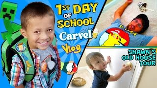 Repeat youtube video CHASE'S 1st Day of SCHOOL! + Shawn's Old House Tour w/ Carvel Ice Cream (FUNnel Vision Vlog)