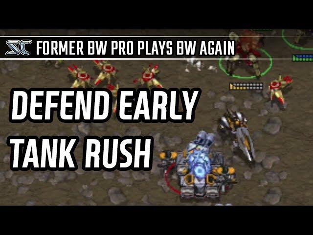 Defend early tank rush in Protoss vs Terran l StarCraft: Brood War l Crank