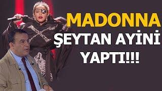 Madonna şeytan ayini yaptı! Her karesinde illuminati mesaj...