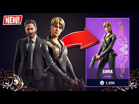 "FORTNITE x JOHN WICK ""SOFIA"" SKIN!! (Fortnite Battle ..."